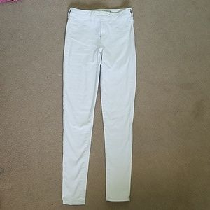 TALL white American Eagle jeggings